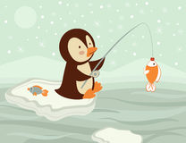 Penguin fishing Stock Photos