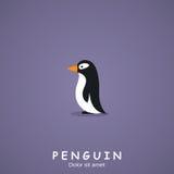 penguin Flache Art Auch im corel abgehobenen Betrag Stockbild
