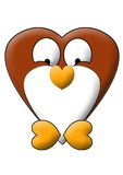 Penguin front view heart style Stock Photos