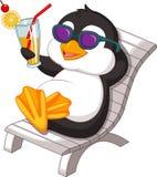 Penguin is getting sunbath Stock Photography