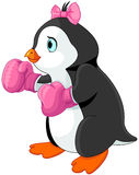 Penguin girl boxer Stock Photography