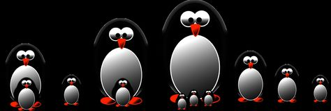 Penguin, Graphic, Draw Royalty Free Stock Photo