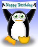 Penguin happy birthday Stock Photos