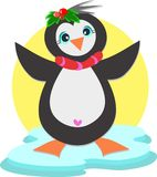 Penguin with Heart Royalty Free Stock Photos