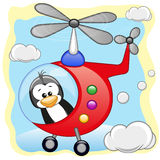 Penguin in helicopter Stock Images