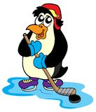 Penguin hockey player Royalty Free Stock Photo