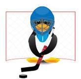 Penguin hockey player Stock Photo
