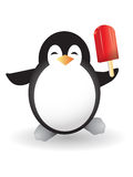 Penguin holding popsicle Royalty Free Stock Photography