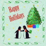 Penguin holiday Royalty Free Stock Photo