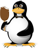 Penguin and ice cream Stock Images