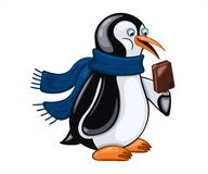 Penguin with  ice cream Royalty Free Stock Photo