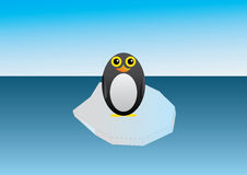 Penguin on an ice floe Royalty Free Stock Images