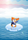 Penguin on an ice floe (vector) Stock Images
