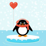Penguin on ice floe Royalty Free Stock Photo