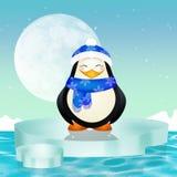 Penguin on iceberg Stock Images