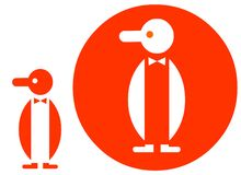 PENGUIN ICON. A useful Icon about Penguins Stock Image