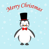 Penguin icon. On the blue background. Vector illustration Royalty Free Stock Photo