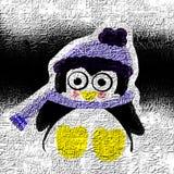 Penguin illustration winter vector illustration