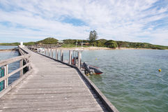 Penguin Island Jetty Perspective royalty free stock image