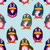 Penguin japan cute seamless pattern Stock Photography
