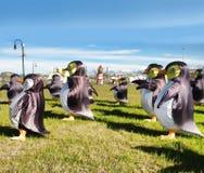 Penguin lanterns Stock Photo