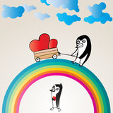 Penguin Love Stock Images