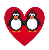 Penguin love Stock Photos