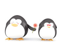Penguin in love Stock Photo
