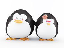 Penguin in love Royalty Free Stock Photos