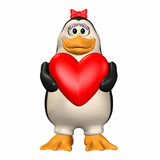 Penguin in Love Stock Photography