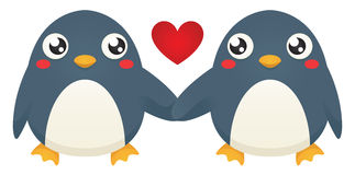 Penguin Love Royalty Free Stock Photo
