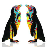 Penguin low poly design Stock Photography