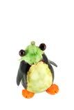 Penguin made from aubergine Stock Photo