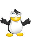 Penguin Mascot - Confused Royalty Free Stock Photography