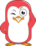 Penguin Mascot wink Stock Image