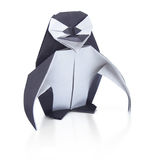 Penguin origami paper Stock Photography