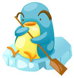 Penguin paddling Royalty Free Stock Images