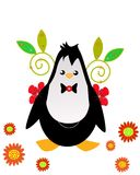 Penguin party. Funny penguin to crop or as a symbol of the game, party Royalty Free Stock Photos