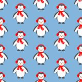Penguin seamless pattern Stock Image
