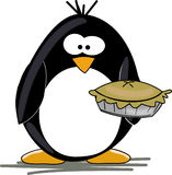 Penguin with pie Stock Photography