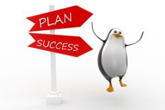 Penguin plan success concept Royalty Free Stock Photography