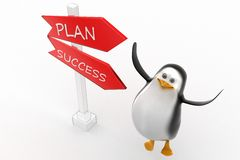 Penguin plan success concept Stock Photography