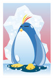 Penguin And The Polar Ice Stock Photography
