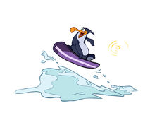 Penguin on a raft Stock Photo