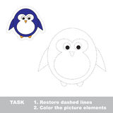Penguin. Restore dashed line and color picture. Trace game for children royalty free illustration