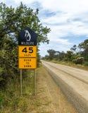 Penguin roadside protection sign Stock Image