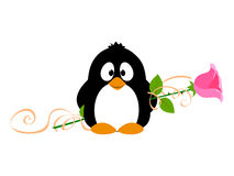 Penguin with rose Royalty Free Stock Photo