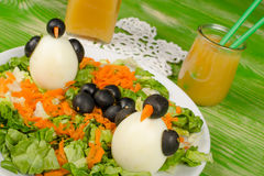 Penguin salad Stock Photography