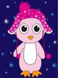 Penguin Santa hat and gift sack vector illustration. Cartoon fun Royalty Free Stock Photos