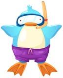 Penguin scuba diver Stock Image